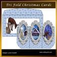 Christmas Beauty 3D Tri-fold Card & Envelope