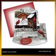 Winter Cardinals Out of Bounds Easel Topper