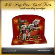 North Pole 3D Pop Out Card Kit
