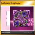 Spring Flowers Fold Back Card Kit & Envelope