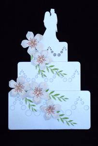 Wedding Cake with Flowers, Cameo Ready
