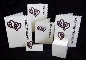 Love Hearts Wedding Stationery, SVG