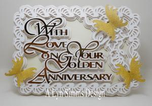 With Love on Your Golden Anniversary Card, SVG
