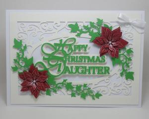 Happy Christmas Daughter Topper, Silhouette Studio