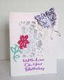 Lacy Flower Panel Card, Cameo Ready