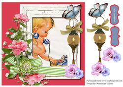 Missing You Decoupage Card