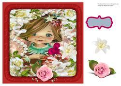 Happy Birthday Girl Decoupage Card
