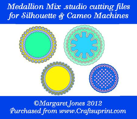 Medallion Mix .studio Cutting Files for Silhouette & Cameo