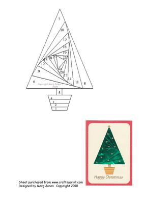 Christmas Tree Iris Folding Pattern
