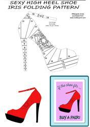 Sexy High Heel Shoe Iris Folding Pattern