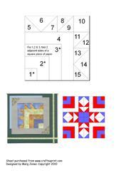 Quilt Square 008 Iris Folding Pattern