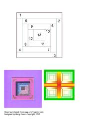 Quilt Square 009 Iris Folding Pattern