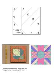 Quilt Square 010 Iris Folding Pattern
