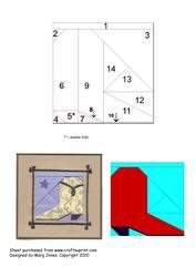 Quilt Square 011 Iris Folding Pattern