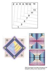 Quilt Square 013 Iris Folding Pattern