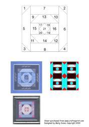 Quilt Square 014 Iris Folding Pattern