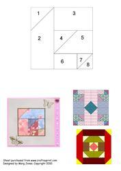 Quilt Square 015 Iris Folding Pattern