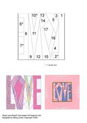 Quilt Square 016 Iris Folding Pattern