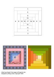Quilt Square 017 Iris Folding Pattern
