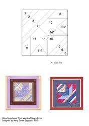 Quilt Square 019 Iris Folding Pattern
