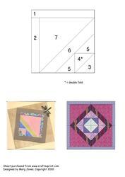 Quilt Square 020 Iris Folding Pattern