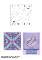 Quilt Square 021 Iris Folding Pattern