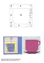 Quilt Square 022 Cup & Saucer Iris Folding Pattern