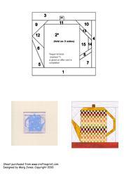 Quilt Square 023 Iris Folding Pattern