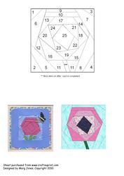 Quilt Square 024 Funky Flower Iris Folding Pattern