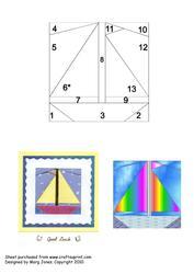 Quilt Square 026 Yacht/sailboat Iris Folding Pattern