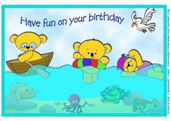 Ocean Scene Birthday A4 Card