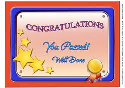 You Passed Certificate (male)