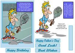Rodney's Tennis Dilemma - Birthday,fathers Day, Any Occasion