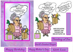 Agnes Goes Shopping - Birthday,mothers Day,any Occasion