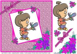 Butterfly Girl 8 x 8 Card