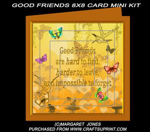 Good Friends Are Hard to Find Mini Kit Pyramid Card