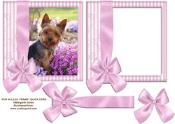 Pup in Lilac Frame 8x8