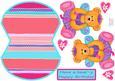 Baby Ballet Bear Wobble Card