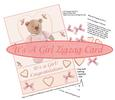 New Baby Girl Zigzag Card with Decoupage