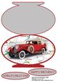 Vintage Car Oval Shaped Card for Dad