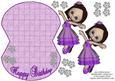 Ballerina & Bling Wobble Card