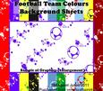 Football Team Colours Background Sheets Kit