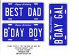 Licence Plates 2 - Best Dad, Birthday Boy, Gal
