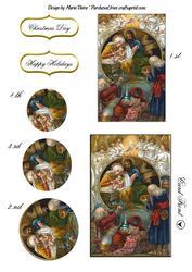 Nativity Card Front Stacker Sheet