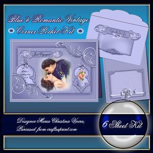 Blue & Romantic Vintage Corner Pocket