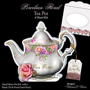 Porcelain Floral Teapot