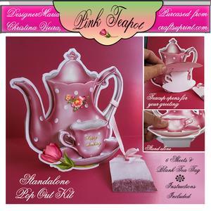 Pink Tea Pot Stand Alone Kit