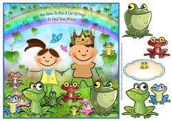 Kiss the Frogs Card Front
