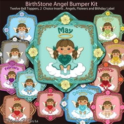 Birthstone Angels in Colors Bumper Kit