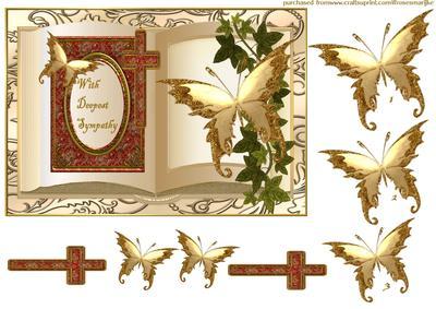 Sympathy Book Butterflies